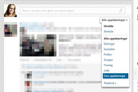 linkedin statusuppdatering